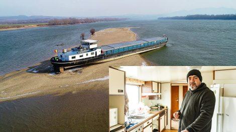 fedélzet hajó hemera zsolt jess nevű teherhajó matróz révész román zászló sando tengerész uszály zátony