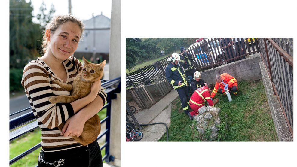 b. molnár márk életmentés gödöllői lánglovagok kövesi tibor közművek légzőkészülék lengyel roxána luká macska macska mentőakció mukics dániel oxigénmaszk szolgálatparancsnok tűz tűzoltóautó tűzoltóőrnagy védőfelszerelés vízszállító