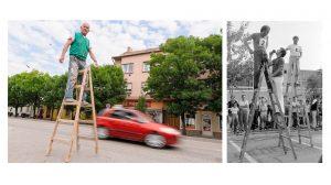 bakács tibor díszítő és gipszstukkó-festő gebei jános guinness-rekordok létraember létrafutás mázoló rózsa györgy szobafestő versenylétra